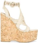 Paloma Barceló wedged sandals - women - Cork/Cotton/Raffia/rubber - 37
