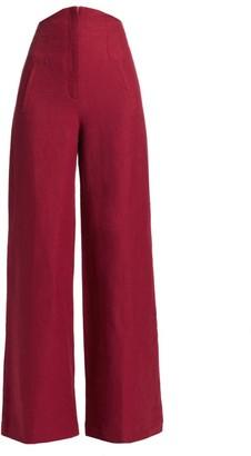 ANNA MASON Beau Wide-Leg Trousers