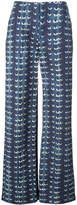 ADAM by Adam Lippes print flared trousers