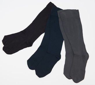 Legacy Silky Light Compression Socks Set of 3 8-15 mmHG