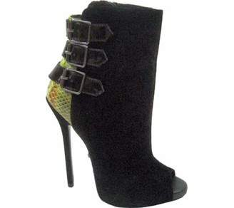 The Highest Heel Sultry 11 Suede Ankle Bootie