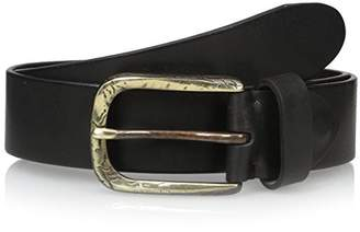 Bolliver Men's Distressed Belt with Bronze Buckle