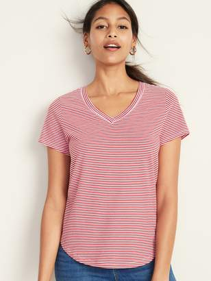 Old Navy EveryWear Striped V-Neck Tee for Women