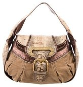 Dolce & Gabbana Snakeskin & Suede Bag