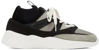 Essentials Black and Grey Sock Runner Sneakers