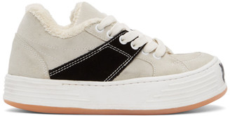 Palm Angels Off-White Suede Snow Low Top Sneakers