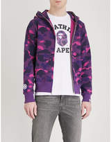 A Bathing Ape Camouflage-print shark cotton-jersey hoody
