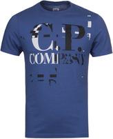 Cp Company Royal Blue Logo Jersey Short Sleeve T-shirt
