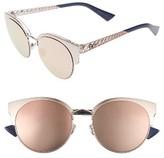 Christian Dior Women's Diorama Mini 54Mm Mirrored Lens Cat Eye Sunglasses - Black