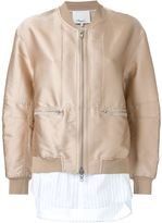 3.1 Phillip Lim shirt tail bomber jacket - women - Silk/Polyester - 0
