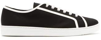 Prada Avenue Low Top Canvas Trainers - Mens - Black White