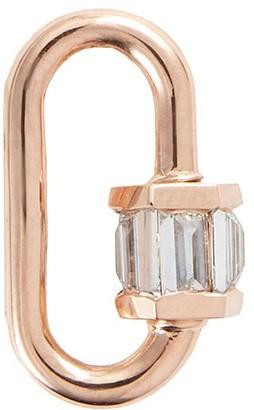 Marla Aaron 'Baguette' diamond 14k rose gold baby lock