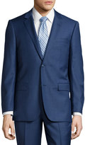 Neiman Marcus Modern Wool Two-Piece Suit, Navy