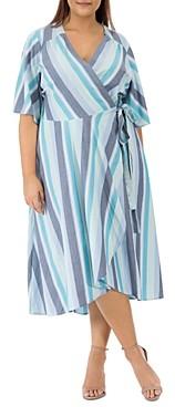 Baobab Collection Orna Striped Wrap Dress