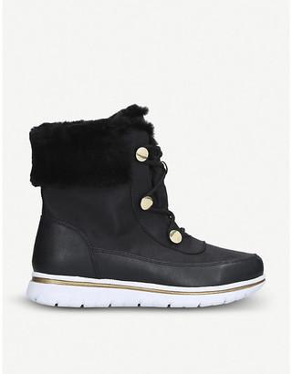 Selfridges Randy lace-up faux-leather ankle boots