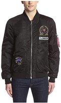 Eleven Paris ELEVENPARIS Men's Mosnote Badge Zip Front Bomber Jacket