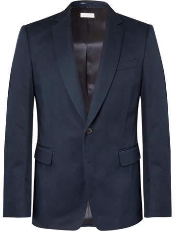 Dries Van Noten Navy Slim-Fit Cotton-Twill Suit Jacket