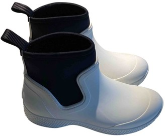 Celine Outdoor Ankle Boots White Rubber Ankle boots