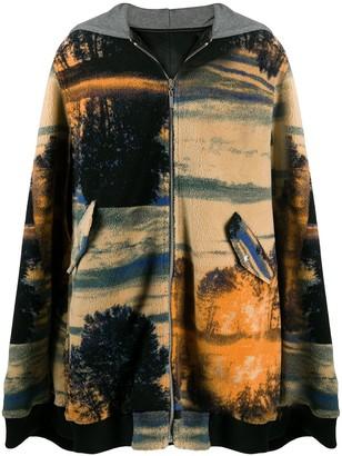 Koché Reversible Cape Coat