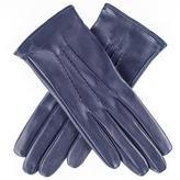 Black Midnight Navy Silk Lined Italian Leather Gloves