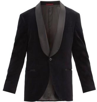 Brunello Cucinelli Shawl-lapel Cotton-velvet Dinner Jacket - Black