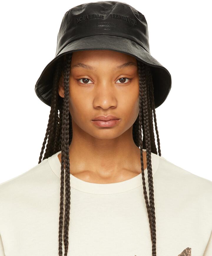 Juun.J Black Faux-Leather 'Nouvelle Tendance' Bucket Hat
