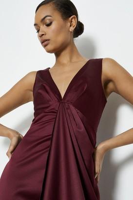 Coast Satin Plunge High Low Maxi Dress