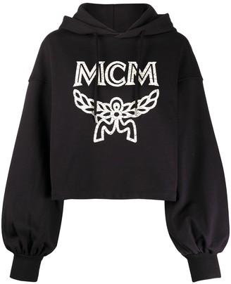 MCM Logo-Print Oversized Hoodie