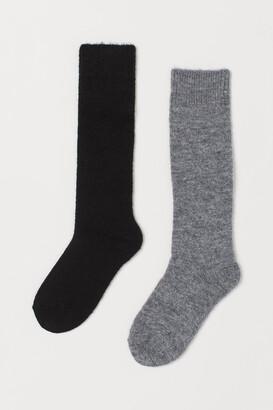 H&M 2-pack Wool-blend Knee Socks