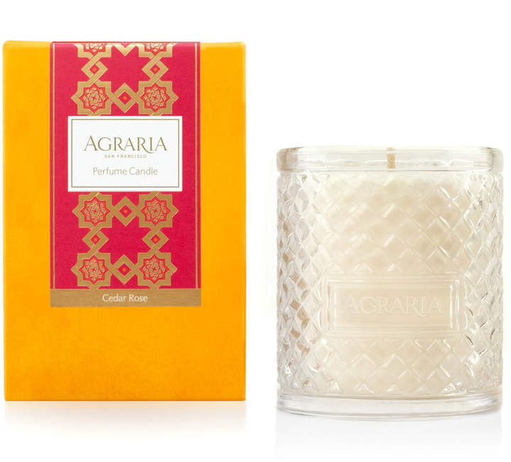 Agraria Cedar Rose Woven Crystal Perfume Candle, 7 oz.