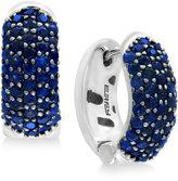 Effy Balissima Sapphire Pavé Hoop Earrings (2-3/4 ct. t.w.) set in Sterling Silver