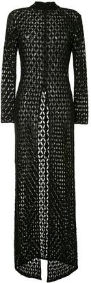 retrofete Open-Knit Long-Sleeved Maxi Dress
