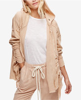 Free People Get Yer Gauze Cotton Lace-Up Cardigan