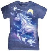 The Mountain Cotton Unicorn Star Design Novelty Womens T-Shirt L
