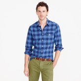 J.Crew Slim heathered slub cotton shirt in buffalo check