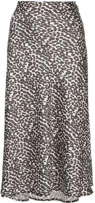 Apparis Zui high waisted leopard print skirt