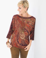 Chico's Coco Paisley Detail Pullover