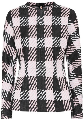 Marni Checked cotton-blend sweater