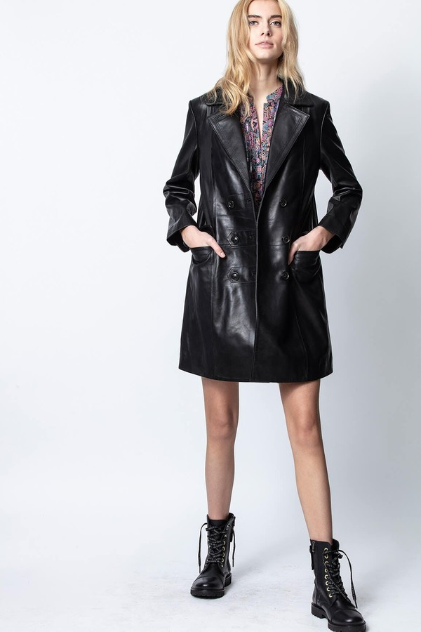 Zadig & Voltaire Magic Leather Coat