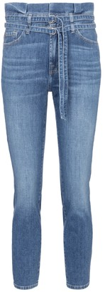 7 For All Mankind High-rise skinny paperbag jeans