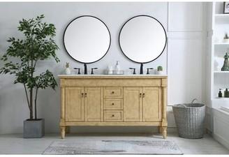 "BEIGE Deina 60"" Double Bathroom Vanity Set Darby Home Co Base Finish: Light"