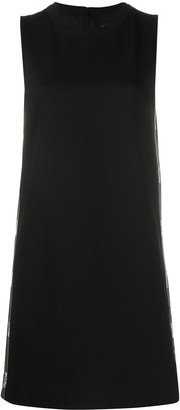 Versace Logo Trim Shift Dress