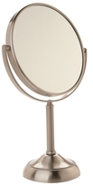 Jerdon Table Top Vanity Mirror, 10X Magnification, 6-In Diameter Nickle Finish