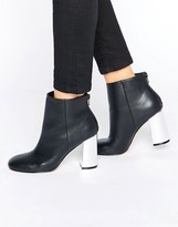 Faith Babe Mirror Heeled Ankle Boots