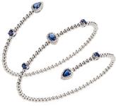 Sapphire & Diamond Wrap Bracelet