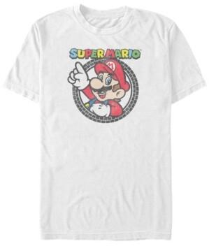 Nintendo Men's Super Mario Classic Tire Logo Short Sleeve T-Shirt
