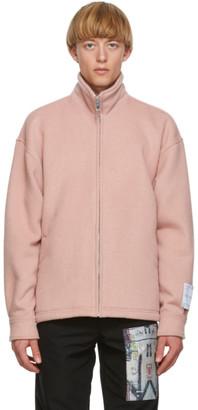 Mr. Saturday Pink Wool Zip-Up Jacket