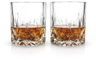 Viski Admiral Cut Crystal Tumblers Set Of 2