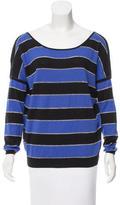 Sandro Metallic Striped Sweater