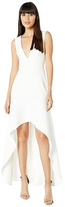 BCBGMAXAZRIA High-Low Gown (Off-White) Women's Dress